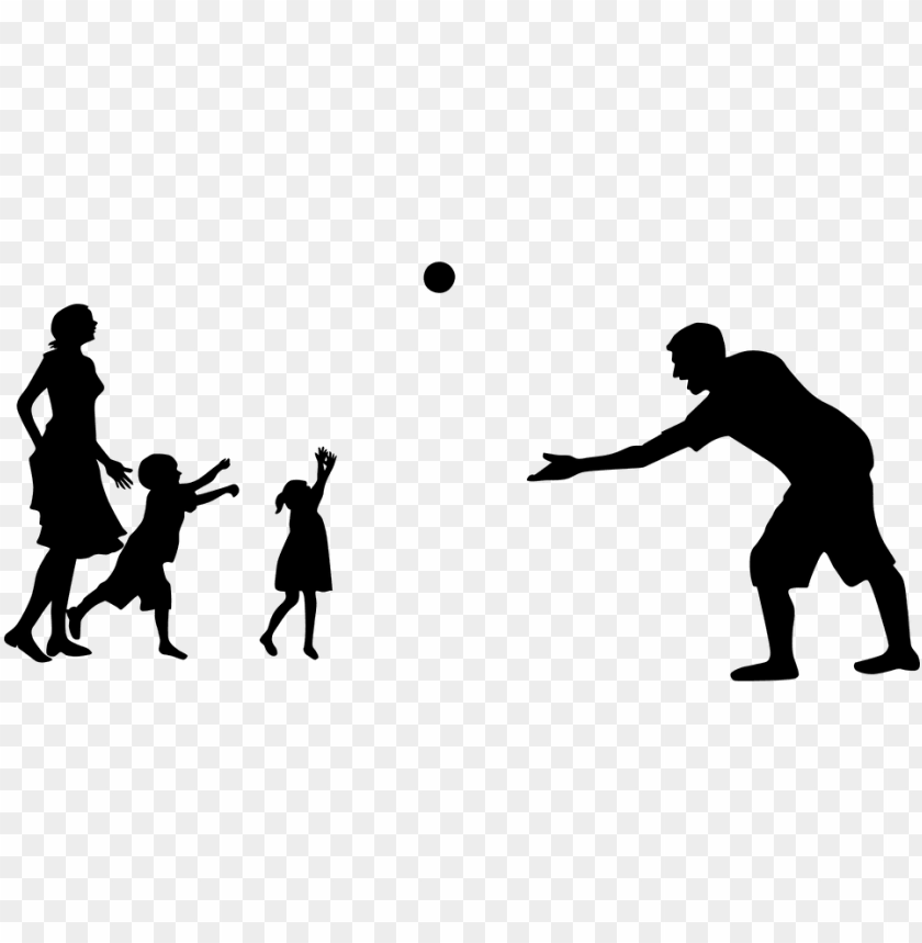 free PNG family playing silhouette PNG image with transparent background PNG images transparent