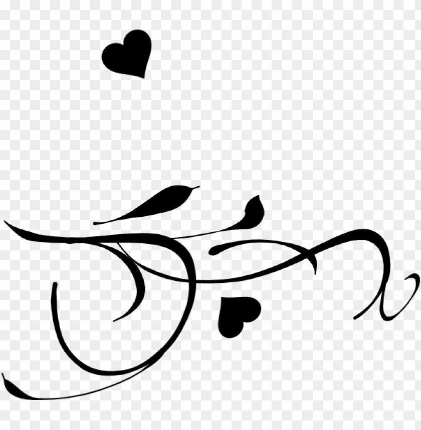 free PNG fancy heart clip art black and white - hearts on a branch PNG image with transparent background PNG images transparent