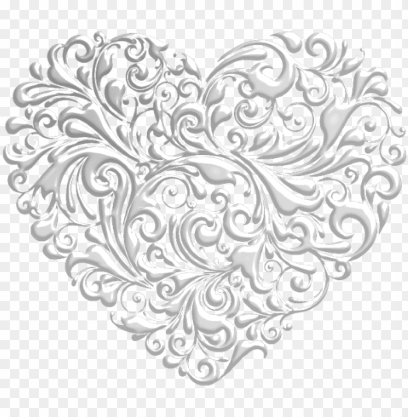 free PNG «fancy hearts heart 7 scrap and tubes » on yandex - transparent fancy black heart PNG image with transparent background PNG images transparent