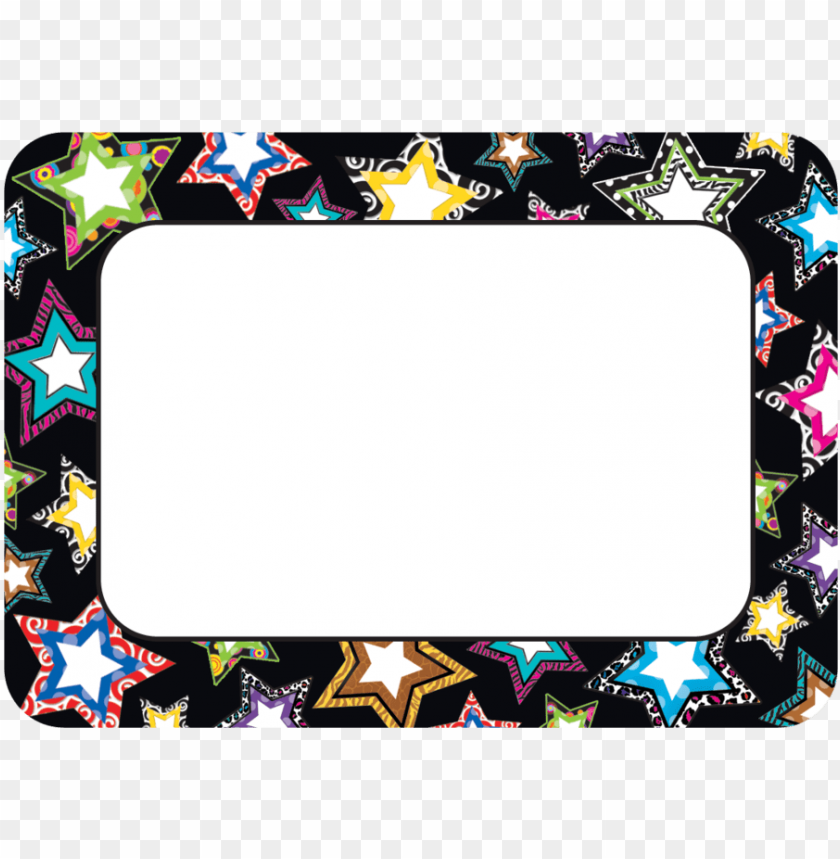 free PNG fancy stars name tags labels tcr5260 teacher created - teacher created resources fancy stars name tags (5260) PNG image with transparent background PNG images transparent