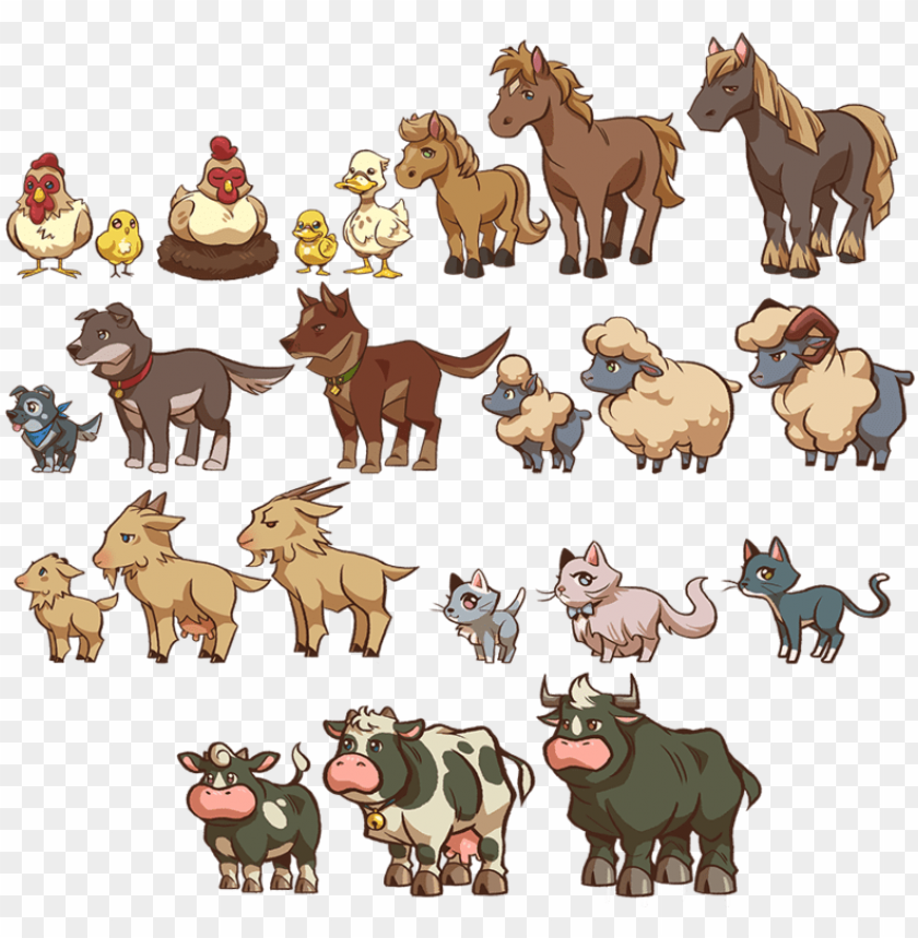 free PNG farm animals - animal farm animals PNG image with transparent background PNG images transparent