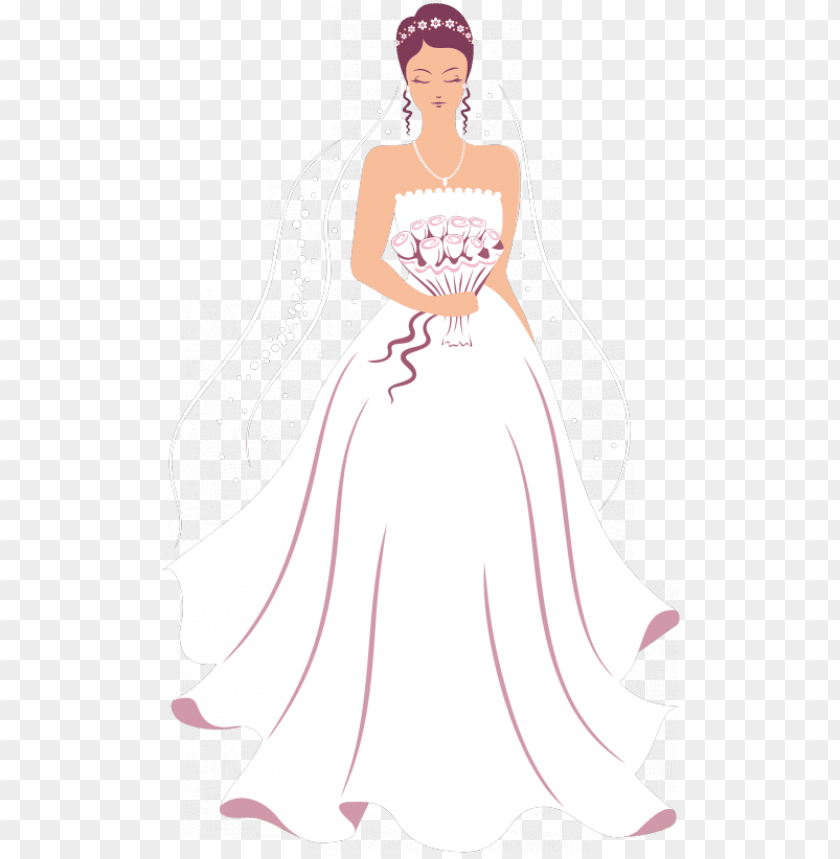 free PNG fashion clipart wedding dress - girl in wedding dress clipart PNG image with transparent background PNG images transparent