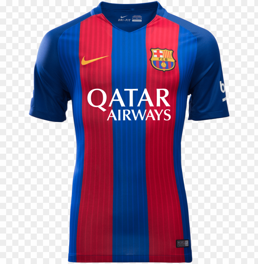 Fc Barcelona Home Jersey 2016 17 With Qatar Airway Fc Barcelona Shirts In Pakista Png Image With Transparent Background Toppng