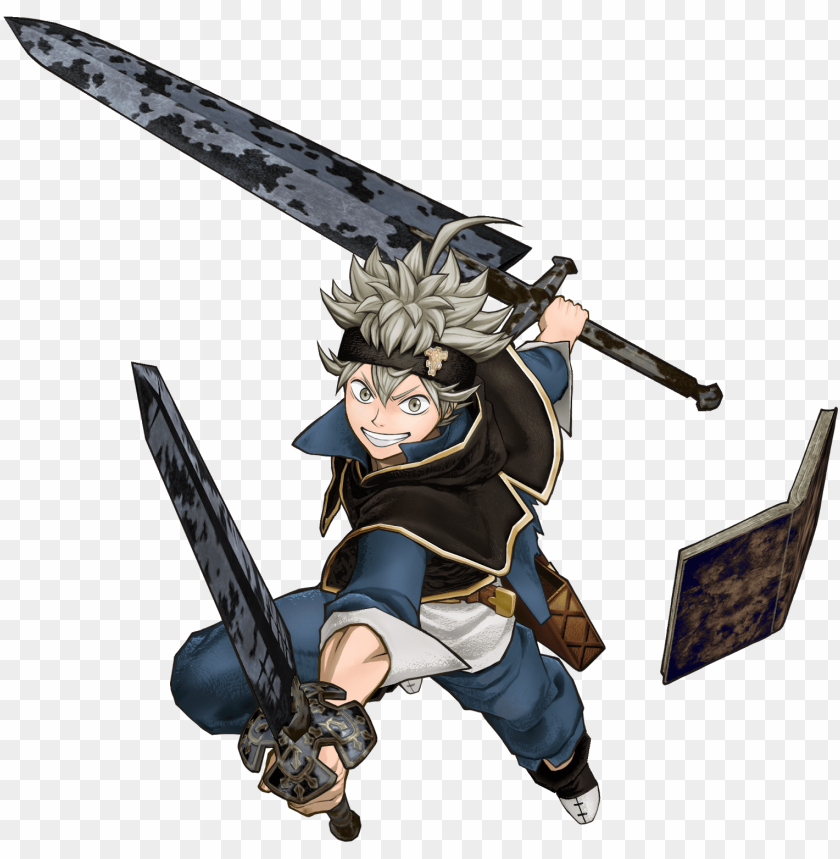 free PNG featuring a unique combination of third person shooting - asta black clover sword PNG image with transparent background PNG images transparent