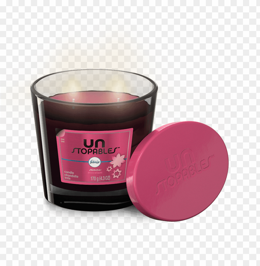 free PNG febreze unstopables candle, shimmer - 1 candle, 4.3 PNG image with transparent background PNG images transparent