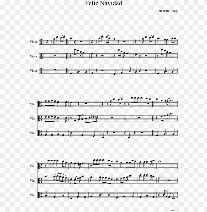 free PNG feliz navidad sheet music composed by arr ruth jiang - lavender town theme alto sax PNG image with transparent background PNG images transparent