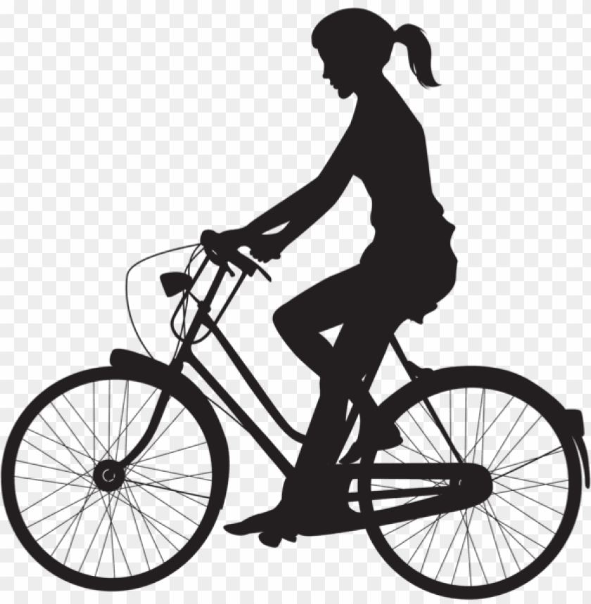 free PNG female cyclist silhouette png - Free PNG Images PNG images transparent
