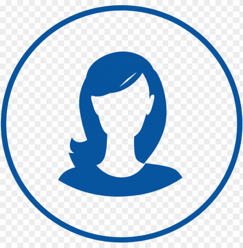 free PNG female-icon - female icon png blue PNG image with transparent background PNG images transparent