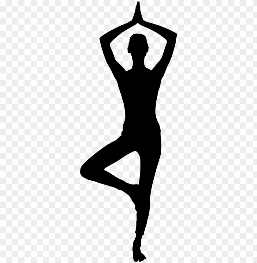 Female Yoga Pose Silhouette Silhouette Woman Doing Yoga Png Image With Transparent Background Toppng