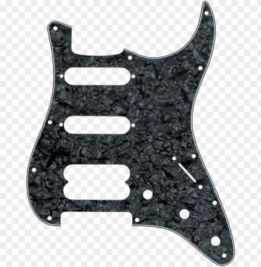 fender stratocaster hss 11-hole pick guard black pearl - fender hss pickguard black PNG image with transparent background@toppng.com