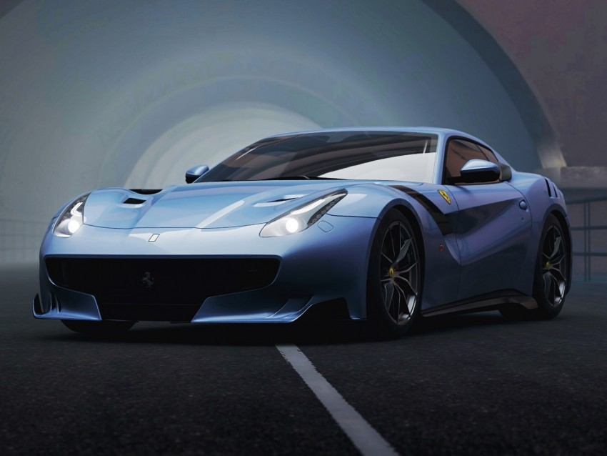 free PNG ferrari f12, ferrari, sports car, racing, front view, supercar background PNG images transparent