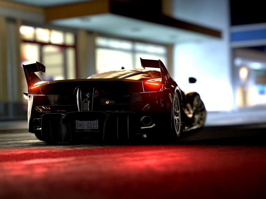 free PNG ferrari fxx-k, ferrari, sports car, rear view, headlights background PNG images transparent