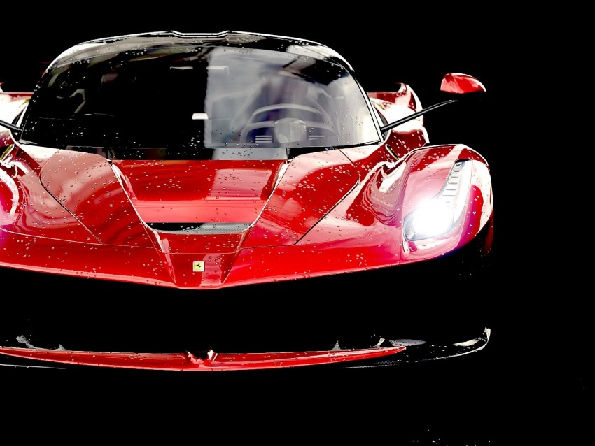 free PNG ferrari laferrari, ferrari, red, sports car, front view background PNG images transparent