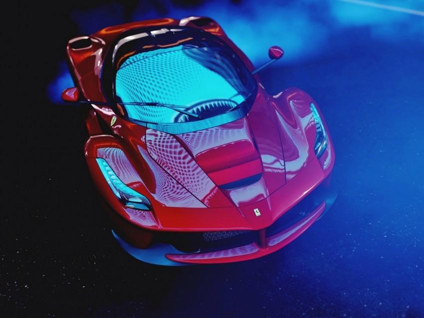 free PNG ferrari laferrari, ferrari, sports car, race, top view background PNG images transparent