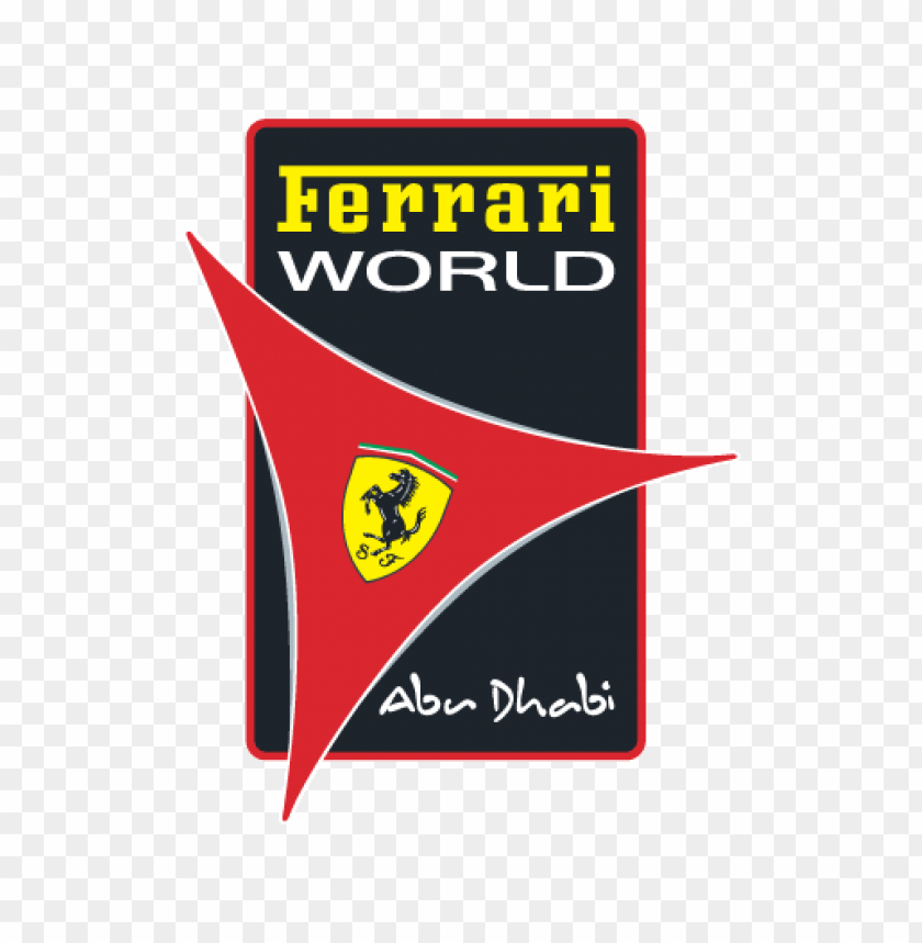 free PNG ferrari world abu dhabi logo vector PNG images transparent