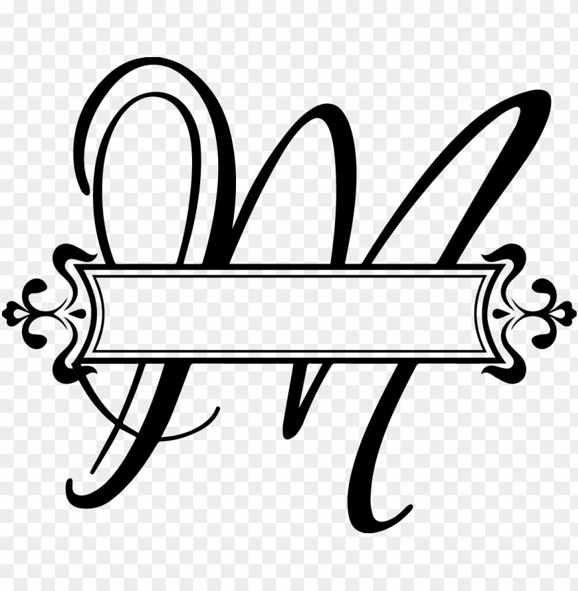 free PNG festival letter m png pluspng com c a pinterest fancy - split monogram letter h PNG image with transparent background PNG images transparent