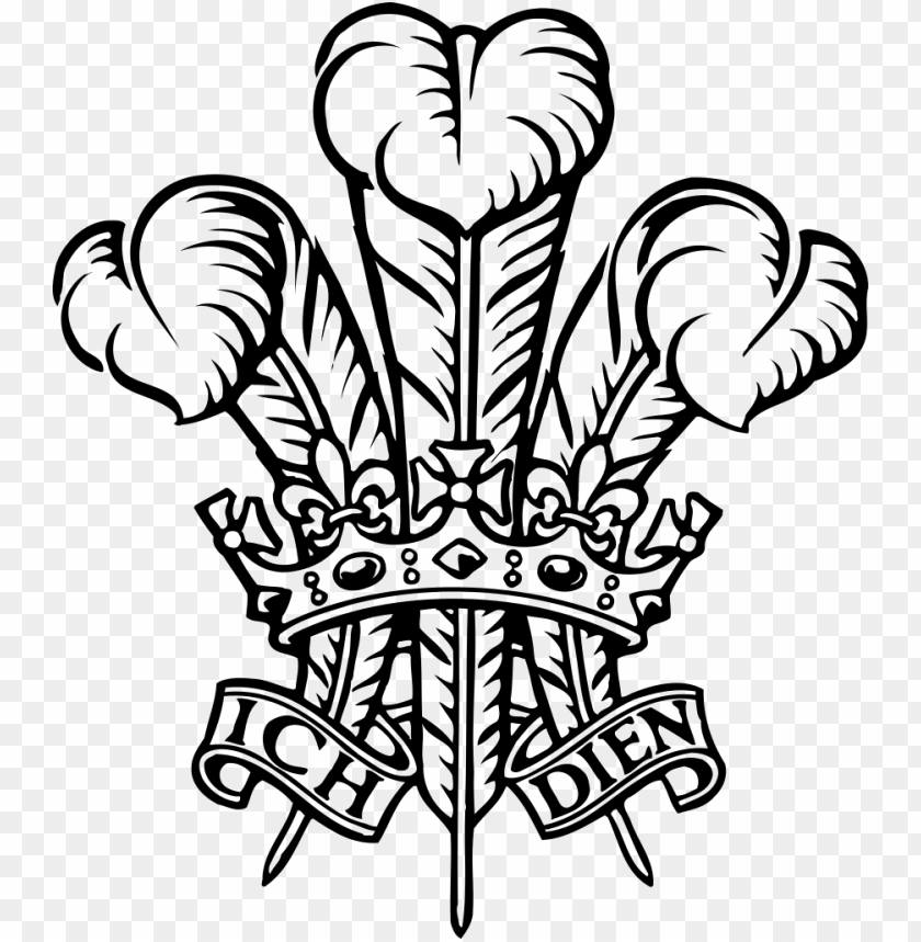 free PNG file - ich dien - svg - prince of wales logo PNG image with transparent background PNG images transparent