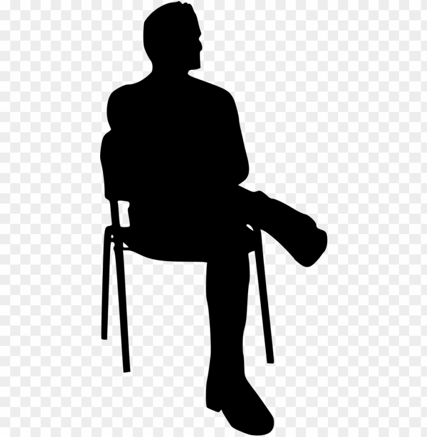 file size - silhouette sitting on chair PNG image with transparent background@toppng.com