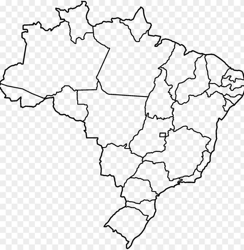 free PNG file states blank png - blank map of brazil states PNG image with transparent background PNG images transparent