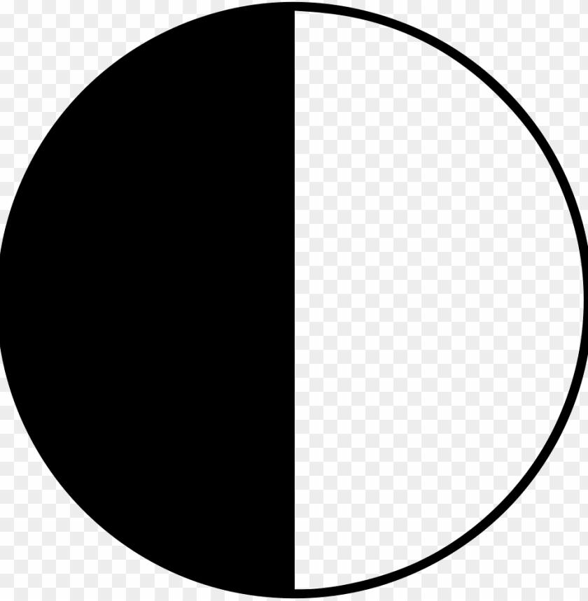free PNG file svg - half black half white circle transparent PNG image with transparent background PNG images transparent