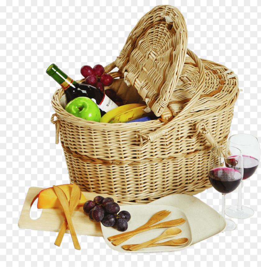 free PNG filled picnic basket PNG image with transparent background PNG images transparent