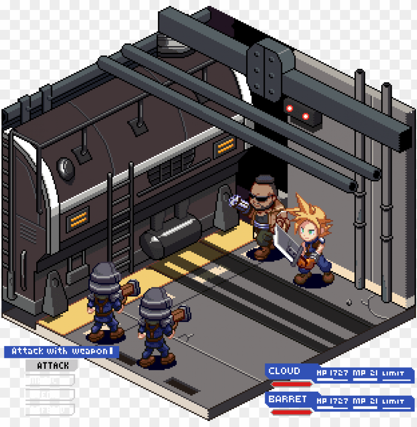 free PNG final fantasy 7 remake diorama by tenpoundpixel - video game PNG image with transparent background PNG images transparent