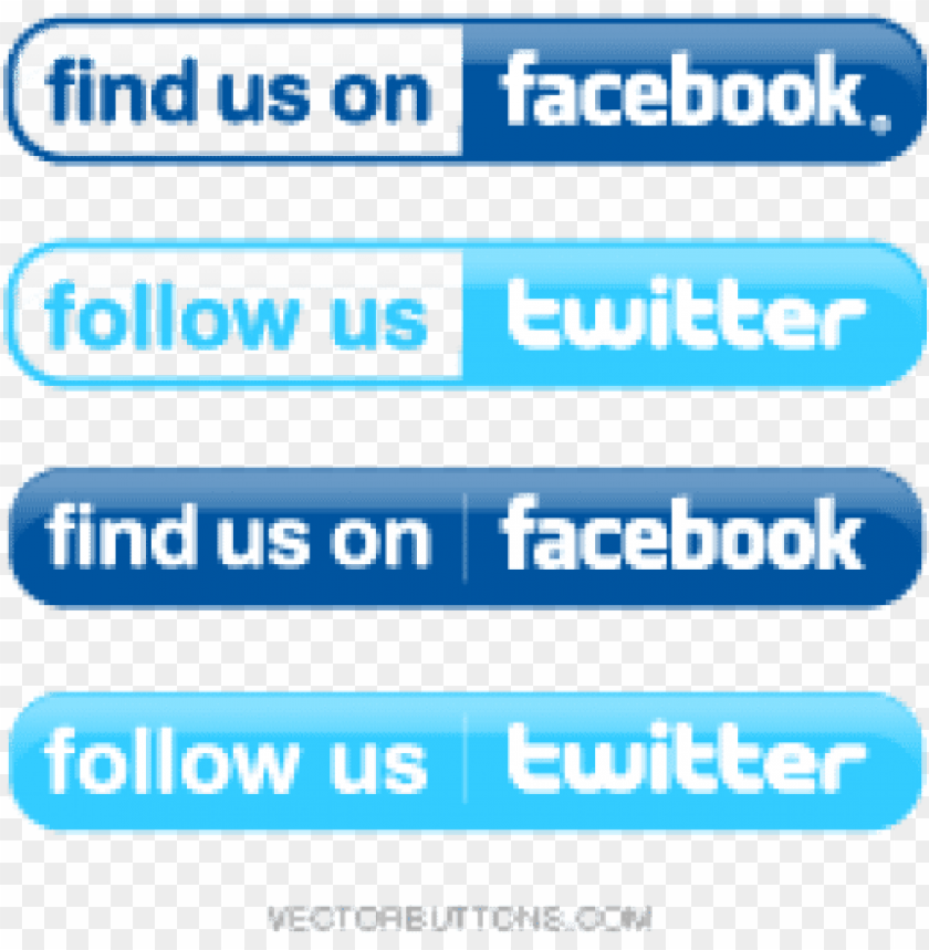 free PNG find us on facebook and twitter logos PNG image with transparent background PNG images transparent