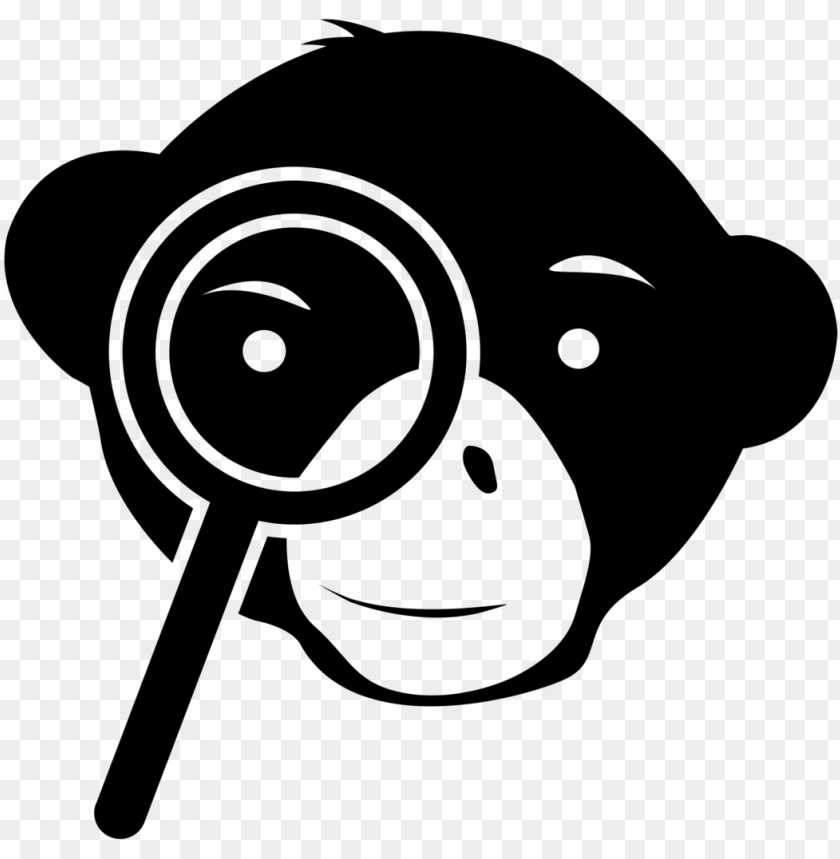 free PNG finding books and articles - monkey with magnifying glass PNG image with transparent background PNG images transparent