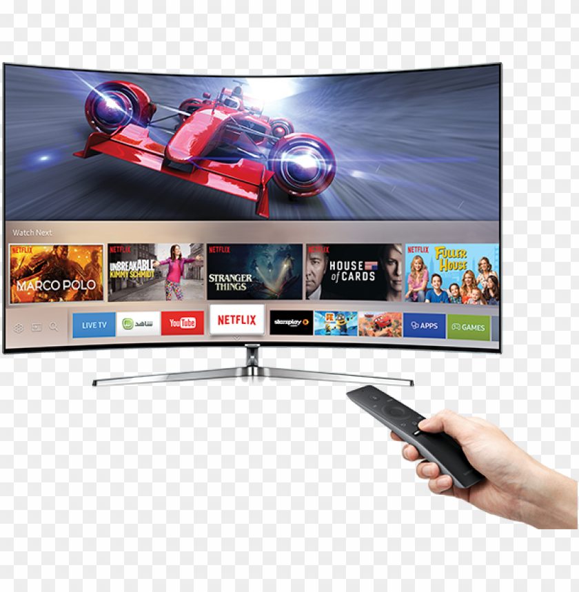 """free PNG finding what you want to watch is a breeze with smart - samsung 65"""" curved 4k ultra hd smart tv with hdr, quantum PNG image with transparent background PNG images transparent"""