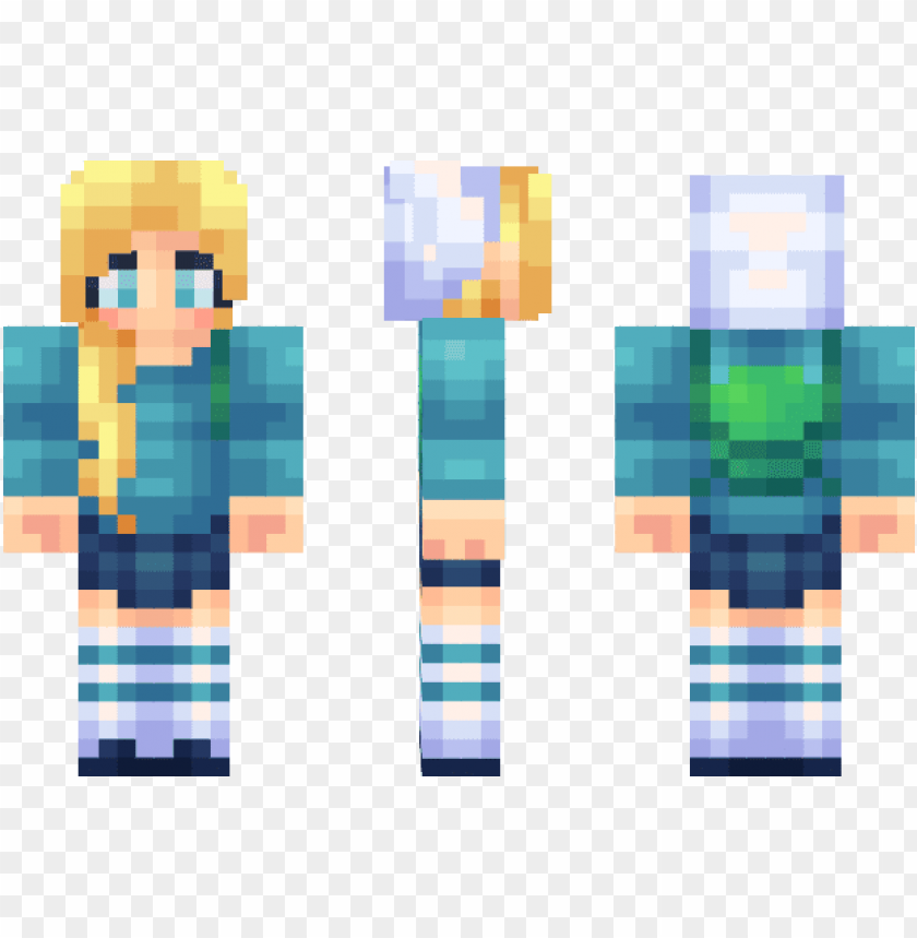 free PNG fionna adventure time minecraft skin minecraft fan - fionna minecraft ski PNG image with transparent background PNG images transparent