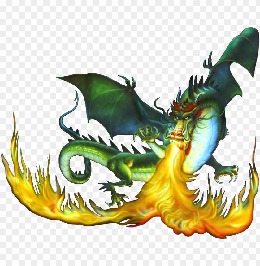 Fire Breathing Dragon Png Image With Transparent Background Toppng