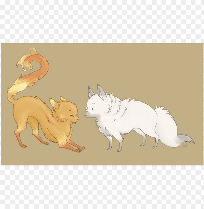 free PNG Download fire cat arctic fox clipart png photo   PNG images transparent
