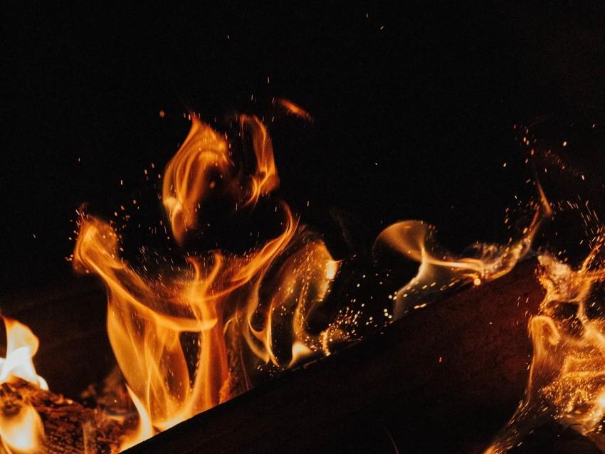 free PNG fire, flame, bonfire, sparks, firewood background PNG images transparent