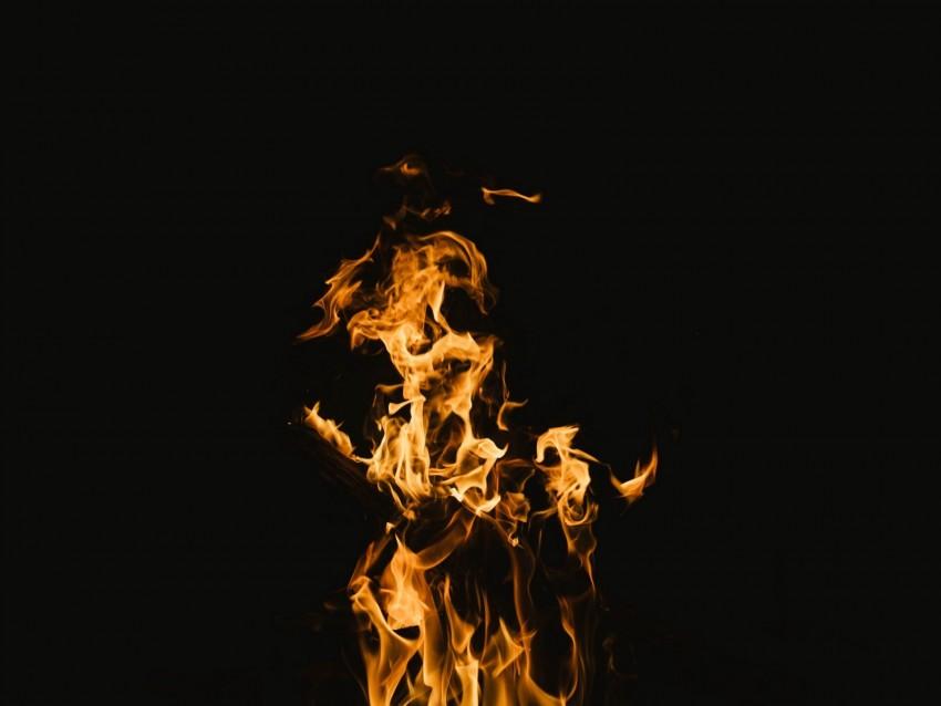 free PNG fire, flame, burn, blazing, dark background PNG images transparent