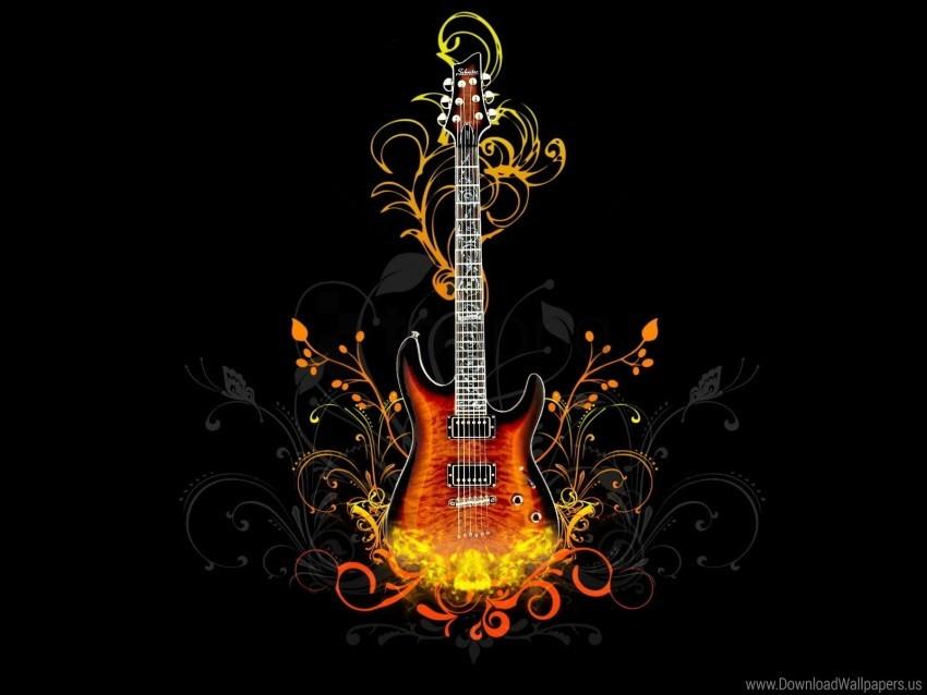 Fire Guitar Light Wallpaper Background Best Stock Photos Toppng