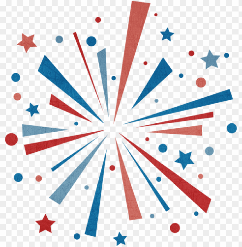 Fireworks Clip Art Fireworks Animations Clipart Clipartandscrap Red And Blue Firework Clipart Png Image With Transparent Background Toppng
