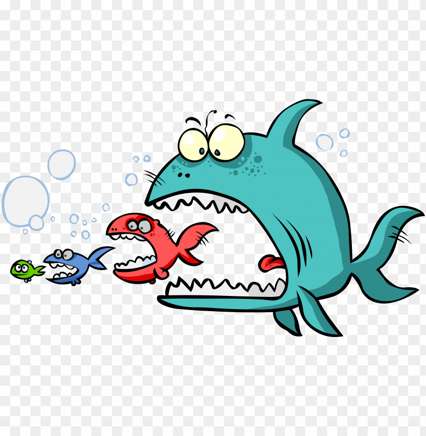free PNG fish eating food clip art - big fish eat smaller fish PNG image with transparent background PNG images transparent