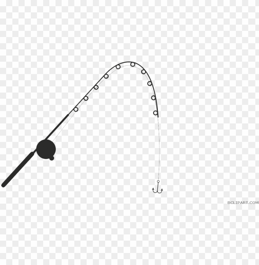 free PNG fishing pole clipart - fishing rod clipart outline PNG image with transparent background PNG images transparent