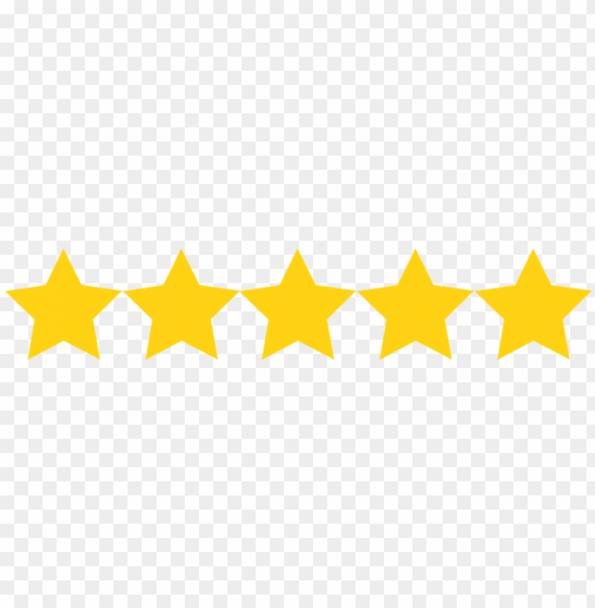 Five Star Rating Png Image With Transparent Background Toppng