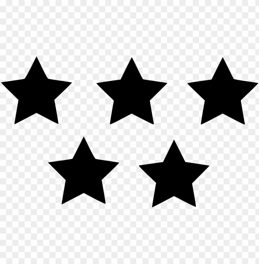 five star rating - 5 star icon PNG image with transparent background    TOPpng