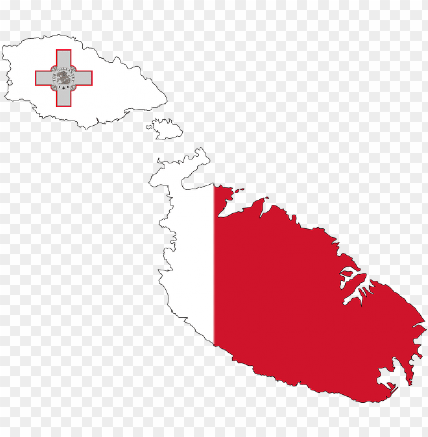 free PNG flag maps of southern europe malta - flag map of malta PNG image with transparent background PNG images transparent