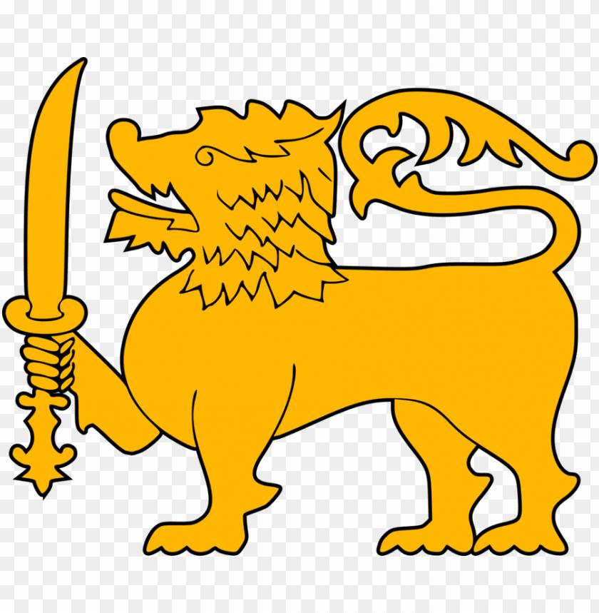 free PNG flag of sri lanka sri lanka lion national flag - sri lanka national flag lio PNG image with transparent background PNG images transparent