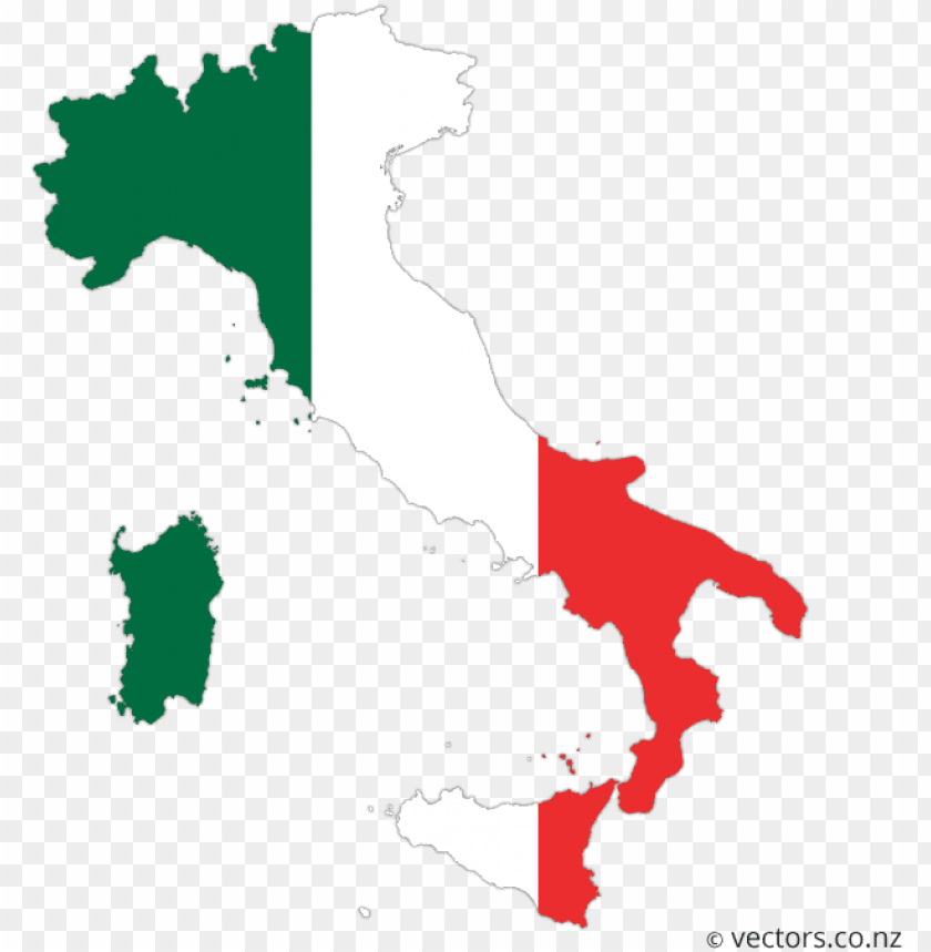 free PNG flag vector map of italy - italy map vector PNG image with transparent background PNG images transparent