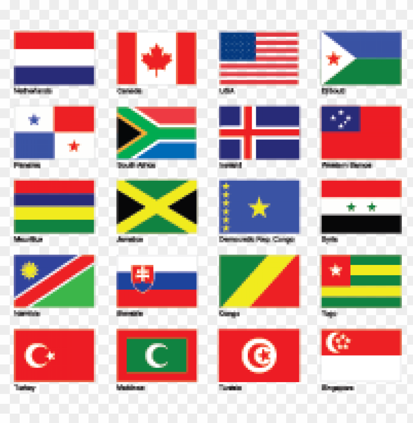 free PNG flags part 1 vector logo free download PNG images transparent