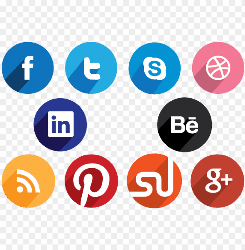 free PNG flat round social media icons - social media icon flat desi PNG image with transparent background PNG images transparent
