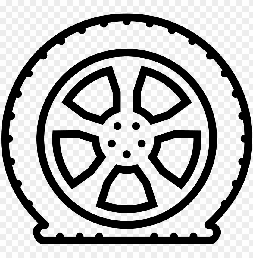 free PNG flat tire drawing at getdrawings - flat tire drawi PNG image with transparent background PNG images transparent