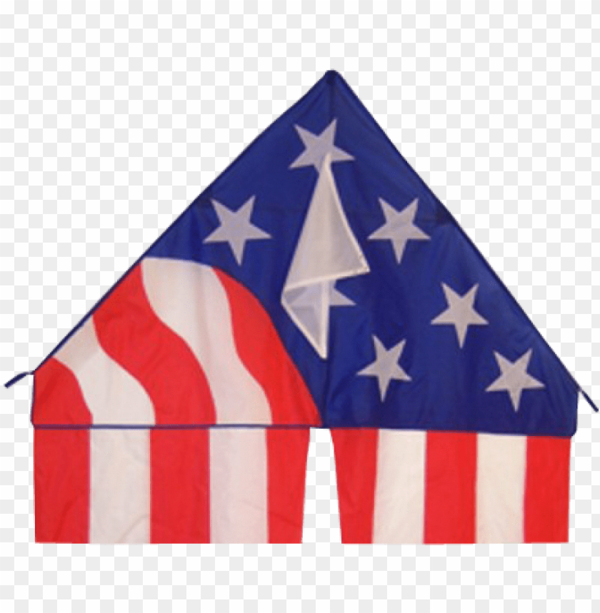 flo-tail patriotic delta kite - breeze patriotic delta kite with 19-1/2-feet flowing PNG image with transparent background@toppng.com