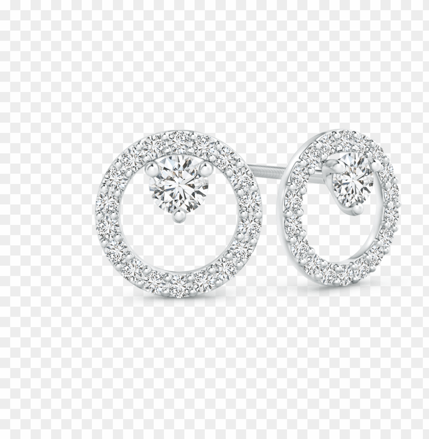 free PNG floating lab grown diamond circle stud earrings - three stone lab grown diamond halo engagement ri PNG image with transparent background PNG images transparent