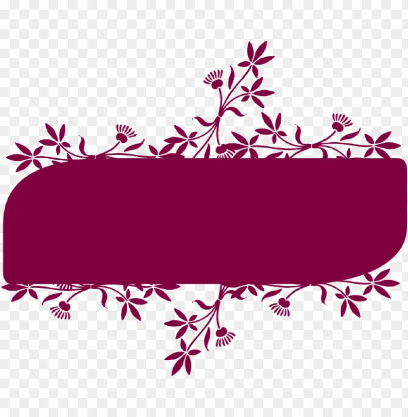 free PNG floral banner clip art at clker - floral banner vector PNG image with transparent background PNG images transparent