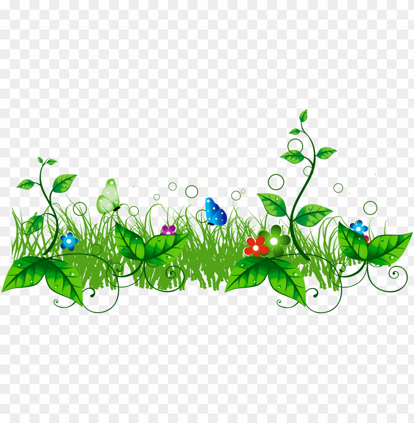 Floral Clipart Divider Grass With Flowers Clipart Png Image With Transparent Background Toppng